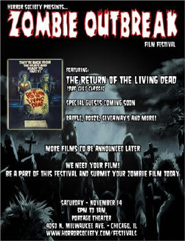 zombie outbreak In Chicago? Zombie Outbreak Lineup Confirmed Nov 14th