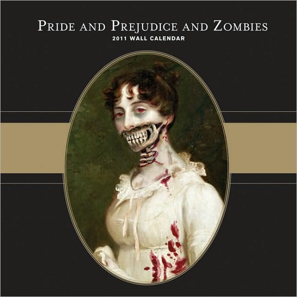 illustrations and quotes from Pride and Prejudice and Zombies.