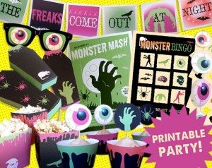 40partyprints 300x238 The Ultra Nifty Super Thrifty Guide to Handmade Zombie Goods