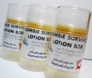 43lotionbar 300x256 The Ultra Nifty Super Thrifty Guide to Handmade Zombie Goods