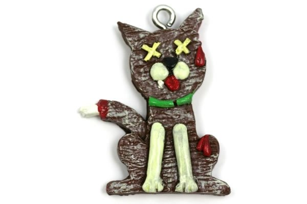 Gingerbread Zombie Cat Christmas Ornament 32618 l Gingerbread Zombie Cat   Christmas Ornament