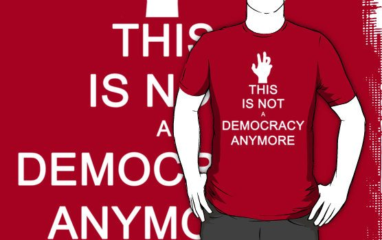 not a democracy This Is Not A Democracy Anymore Shirt