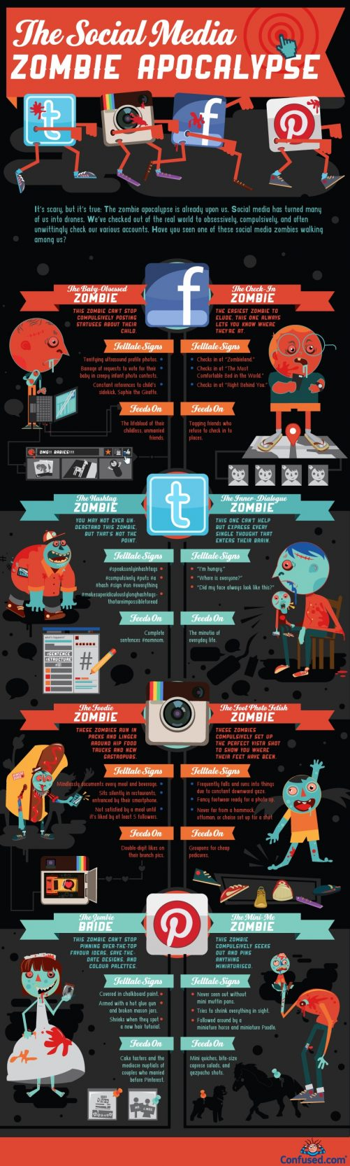 socialmediazombiesinfographic Has Social Media Turned You into a Zombie?