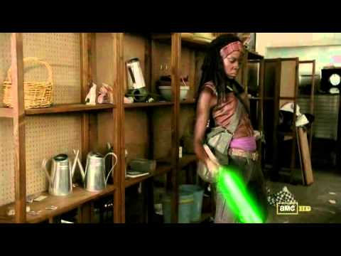 twd lightsabers The Walking Dead   With Light Sabers