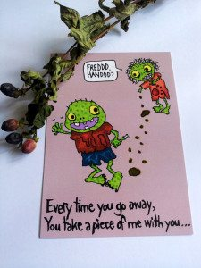 52missingyou 225x300 The Ultra Nifty Super Thrifty Guide to Handmade Zombie Goods
