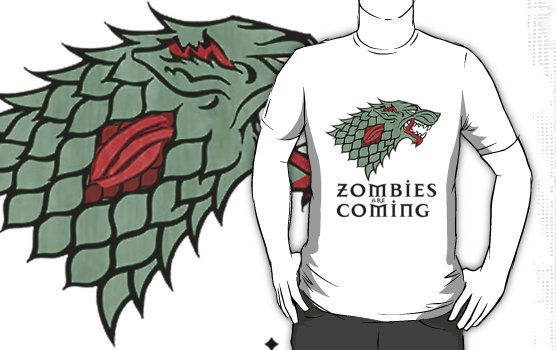 game of thrones zombies Zombies Are Coming Shirt
