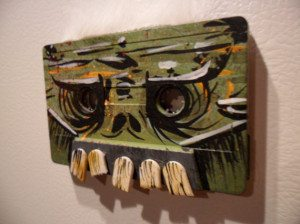 56cassettemagnet 300x224 The Ultra Nifty Super Thrifty Guide to Handmade Zombie Goods
